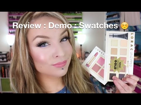 Review : Demo : Swatches : Lorac Unzipped Gold Eyeshadow and Cheek Palettes