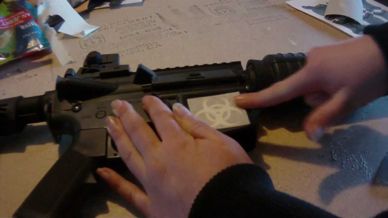 How To Apply Custom Gun Decals From Mutinous Creations YouTube - Custom gun barrel stickers