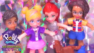 Polly Pocket 🌈💜BIRTHDAY SURPRISE🌈💜Polly Pocket Toy Play Compilation🌈💜Videos For Kids