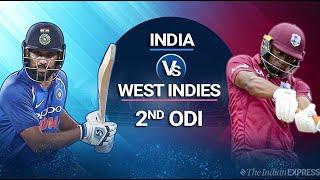 India vs West Indies 2nd ODI