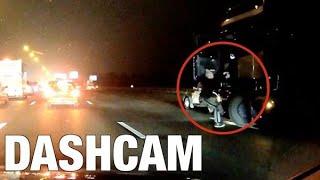 Oldtimerbezitter gaat trucker te lijf op A16 - DASHCAM