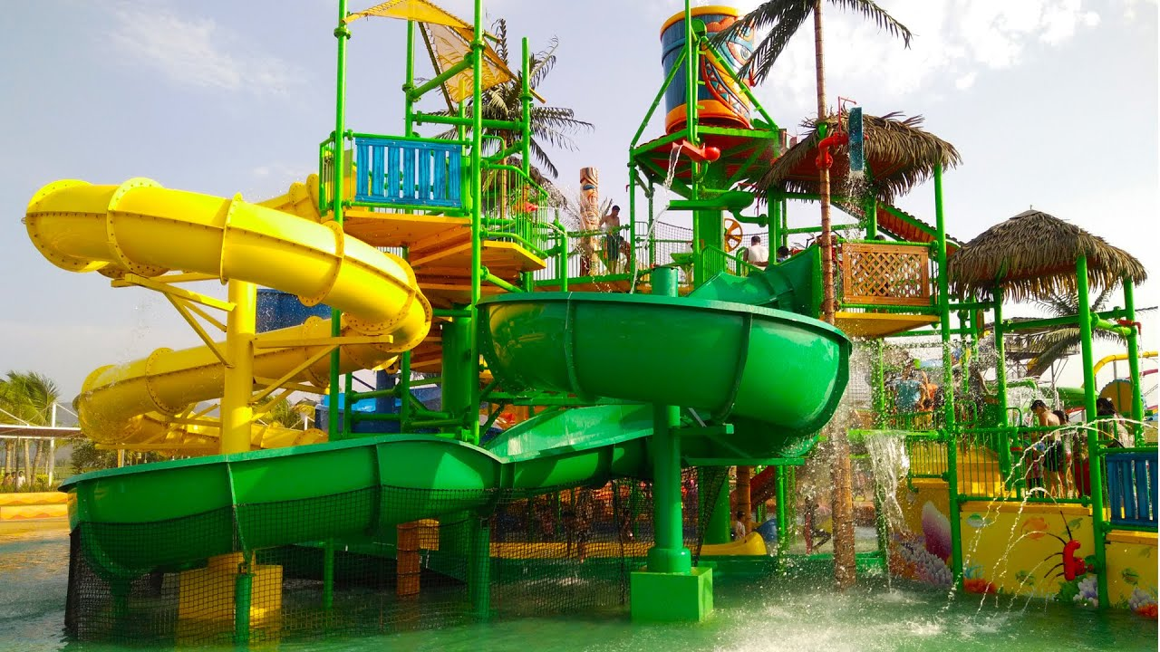 Best Water Slides For Backyard children playing in the park water slides biggest outdoor playground