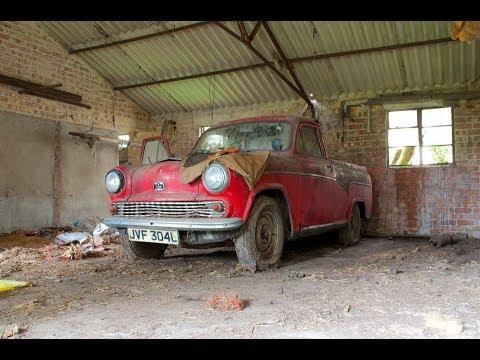Abandoned dumped car graveyard - Austin a55 pickup and more (patina heaven)