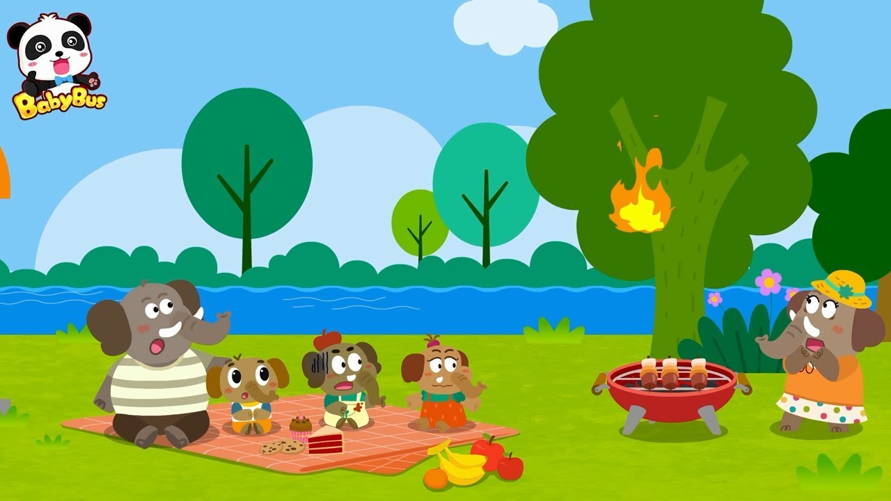 Emergency! Garden is on Fire | Firefighter Song, Fire Truck  | Animal Song | Kids Songs | BabyBus