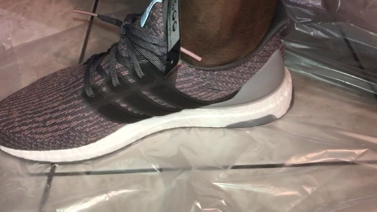 78a8ab05a866e ... cheap adidas ultra boost 3.0 grey pinkon feet action 9caa5 45bc7