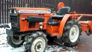 Hinomoto C 174D z glebogryzarką tractor ogrodowy.www.traktorki.waw.pl