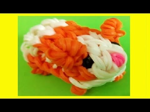 HOW TO MAKE GUINEA PIG 3D WITH 2 FORKS. WITHOUT RAINBOW LOOM. DIY. hamster