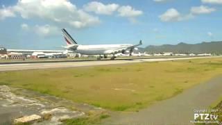 AIR FRANCE A340 AF498 Arrival at SXM St. Maarten on 3/20/2017