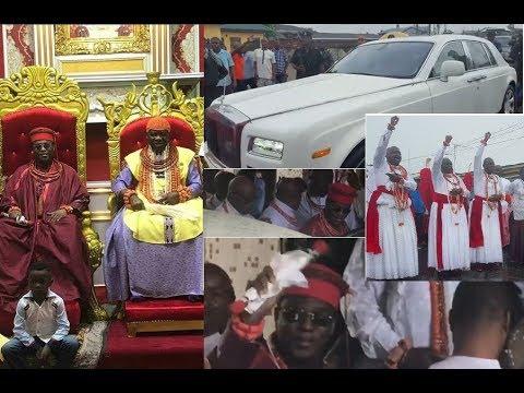 Oba Of Benin Arrives Olu Of Warri Palace In A Grand Style