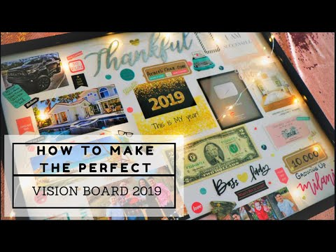 HOW TO MAKE THE PERFECT VISION BOARD | MAKING MY DREAM BOARD 2019 Mp3
