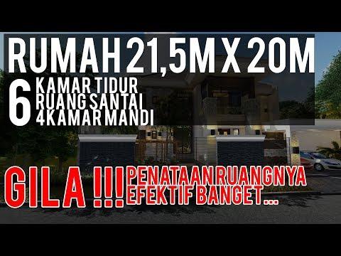 Rumah 21,5m x 20m, Rumah Bali Modern, Sirkulasi Udara dan Cahaya LANCAR!