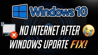 Fix No Internet Connection After Installing Windows Updates in Windows 10/8/7 [2020]
