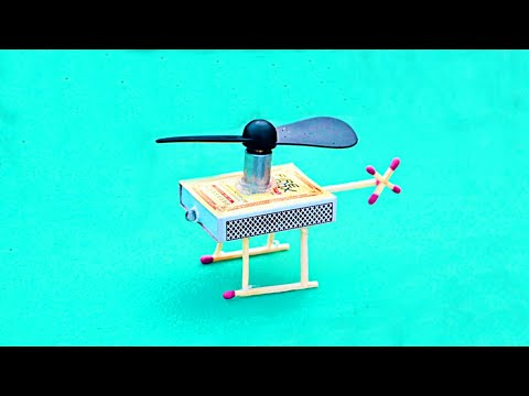 How To Make Helicopter Matchbox | Helicopter Toy DIY