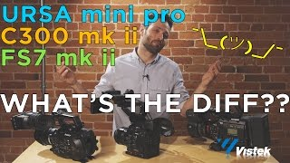Ursa Mini Pro vs C300 MK II vs FS7 MK II - What's the Difference?