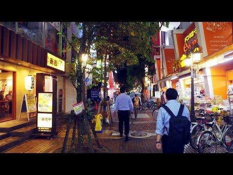 東京に近い街 | 埼玉県川口駅前を夜散歩 - 4K UHD