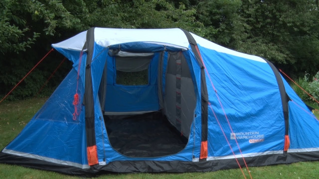 & Titan Inflatable 4 Man Tent - YouTube