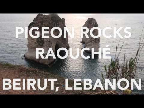Beirut, Lebanon Boat Ride Around Raouche Rocks (Pigeon Rocks)
