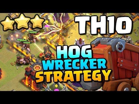 TH10 HOG RIDER ATTACK - Clash of Clans 3 Star Attack ...