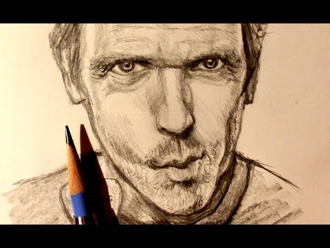 ASMR | Pencil Drawing 18 | Dr. House (Request)