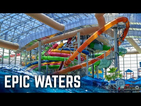 Largest Indoor Water Park In Texas: Epic Waters (Water Slides POV)