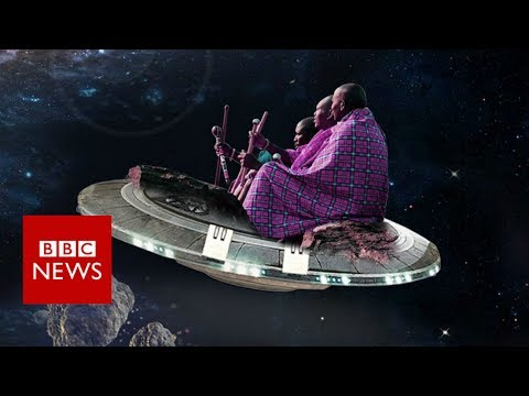 A Kenyan artist imagines what the Maasai people would look like in space - BBC News