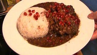 Chicken Pomegranate Walnut Persian Stew - Khoresht Fesenjan.