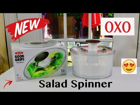 😍   OXO  ❤️  Good Grips Salad Spinner - Review  (New) 2018    ✅