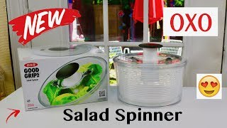 😍   OXO  ❤️  Good Grips Salad Spinner - Review    ✅