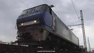 JR貨物 城東貨物線神崎川橋梁を渡るEF200&EF65を撮影(H31.3.26)