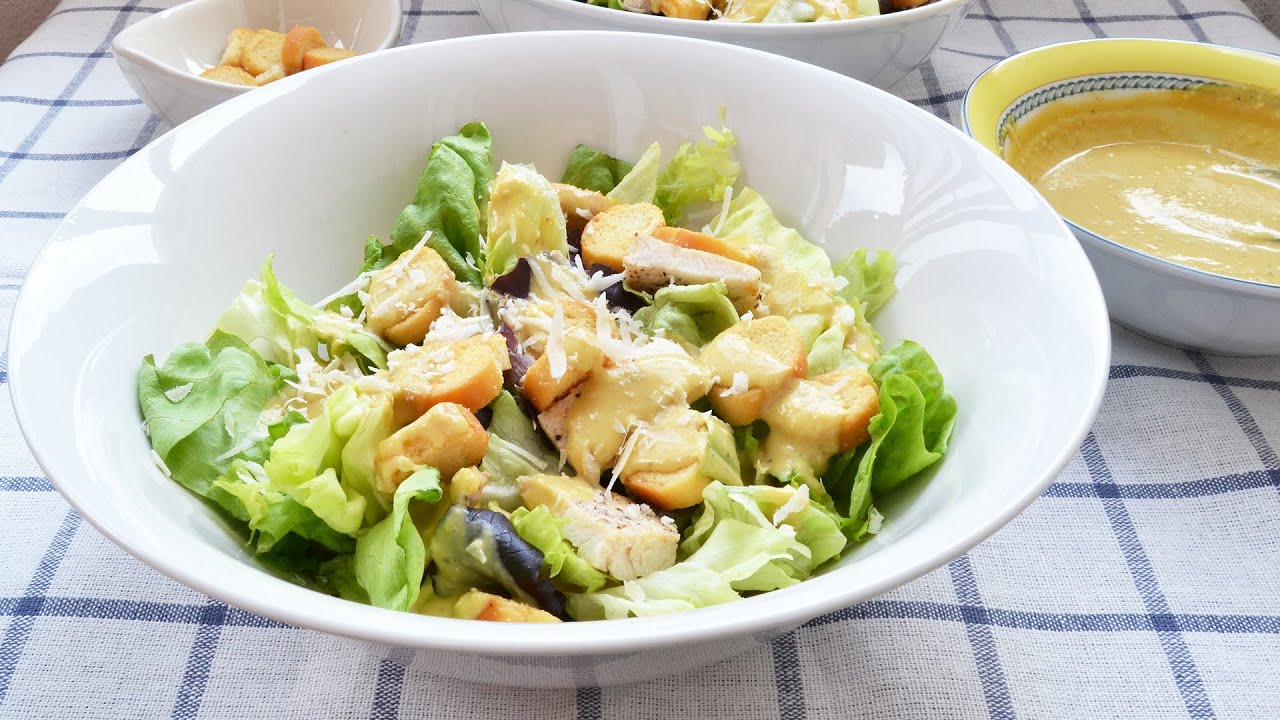 Homemade Caesar Salad - Easy & Simple Caesar Salad Recipe - YouTube