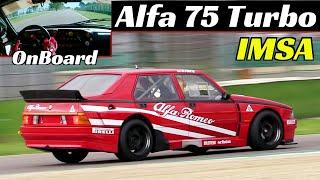 Alfa Romeo 75 Turbo Evoluzione IMSA + OnBoard at Imola Circuit - 1988 Giro d'Italia ex...