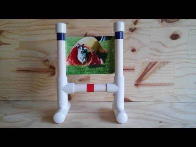 DIY Dog Agility Bar Jump Photo Frame!