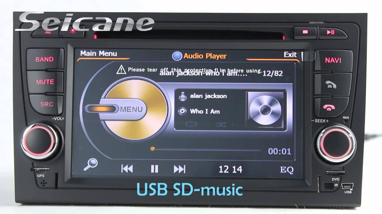 2002-2008 Audi A4 S4 RS4 B5 B6 B7 DVD GPS Audio Head Unit ...