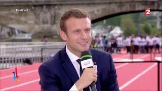Paris 2024 - Emmanuel Macron : l'interview en intégralité !