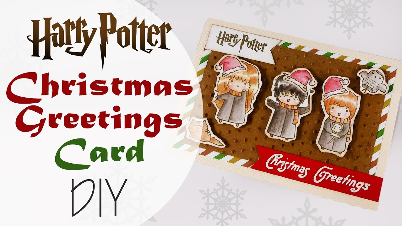 Immagini Natalizie Harry Potter.Biglietto Di Natale Harry Potter Diy Harry Potter Greetings Card