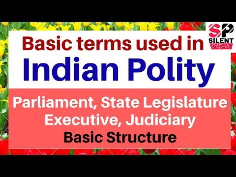 Basic Concept of Indian Polity in Hindi | Indian Constitution Basic terms | parliament, Legislature