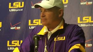 Les Miles after the 2013 LSU Spring Game