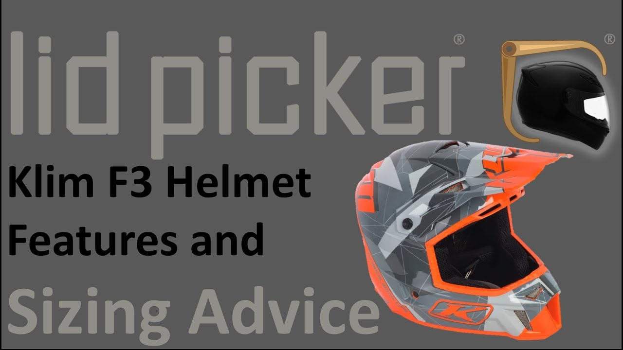 e2950d79 Klim F3 Helmet Features and Sizing Advice Guide - YouTube