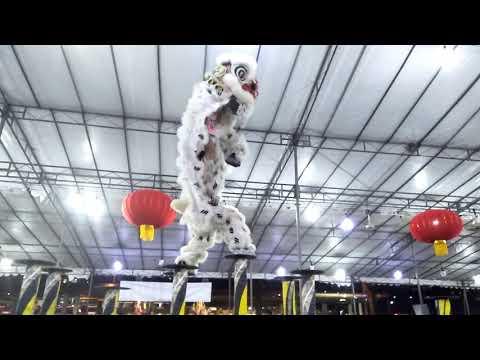 Yiwei Lion Dance High Poles Performance at Shui Lian Gong 26 Sep 2018