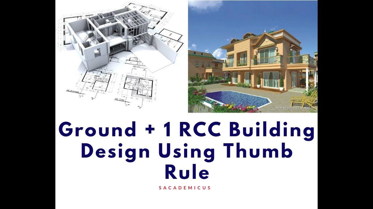 G+1 RCC Building Using Thumb Rule | RCC Thumb Rule