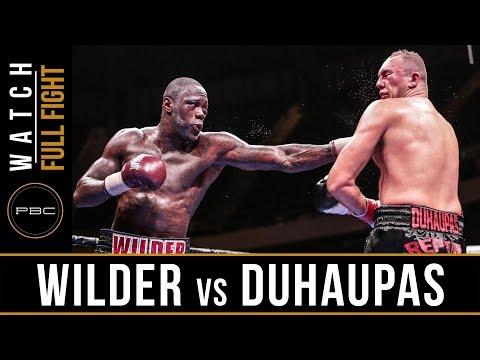 Wilder vs Duhaupas