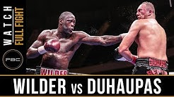 Wilder vs Duhaupas FULL FIGHT: Sept. 26, 2015 - PBC on NBC