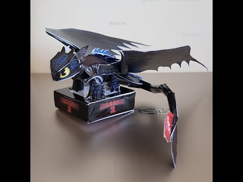 DIY HOW TO TRAIN YOUR DRAGON - TOOTHLESS PAPER TOY [TIME LAPSE]