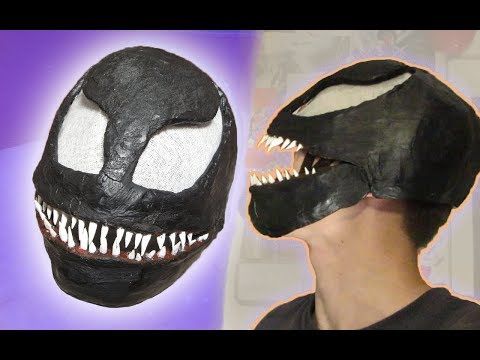 HOW TO MAKE VENOM MASK | Venom 2018