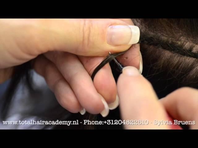 Hair weave extensions  training  by Sylvia Bruens from Original Socap