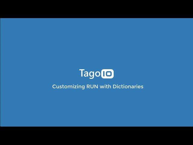 Customizing RUN with Dictionaries