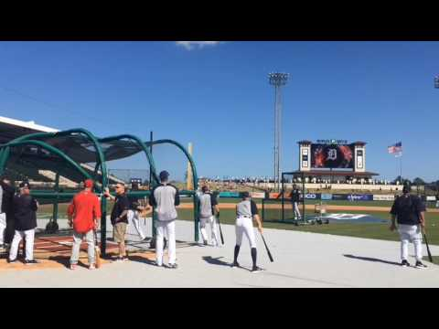 Detroit Tigers Take Batting Practice Tuesday, March 7, 2017
