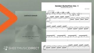Golden Butterflies Var. 1 Sheet Music - Ludovico Einaudi - Piano Solo Seven Days Walking Day 2