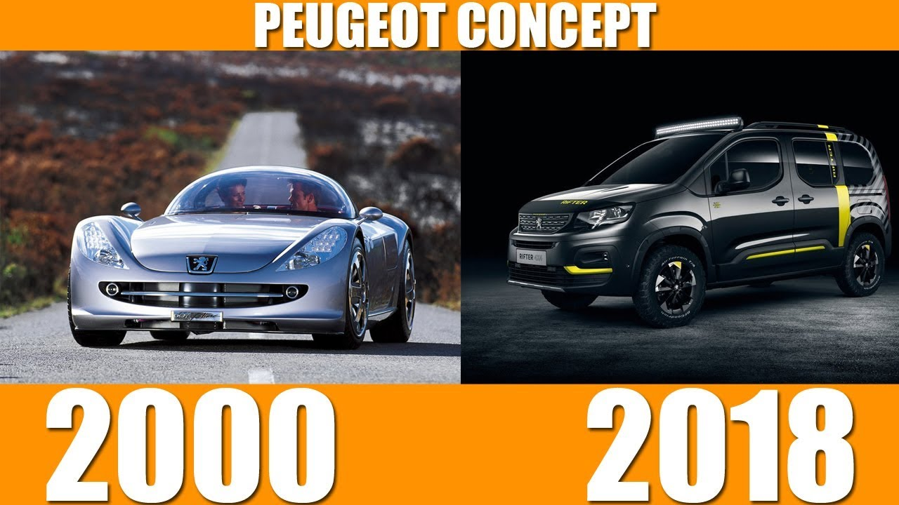 Peugeot Concept Collection Evolution From 2000 2018 Youtube