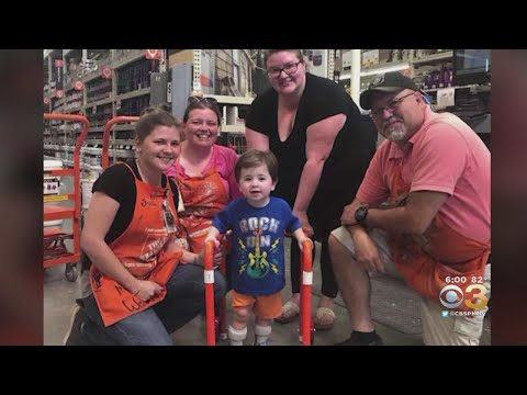 Bama, Rob & Heather - C'mon Get Happy: Home Depot Employees Build Walker for 2yo Boy--No Charge!